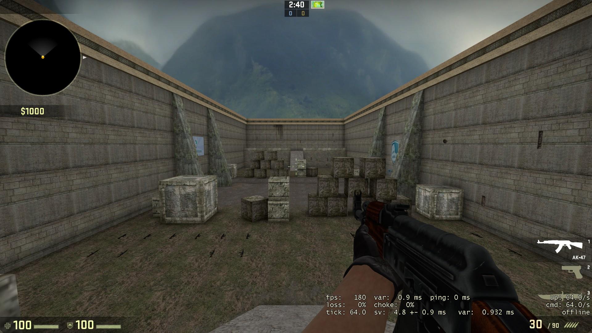 Карта aim_headshot CSGO
